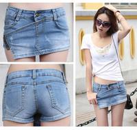 New Fashion 2014 Summer Female/Women's Denim/Jeans Shorts for Women/Lady's Skirt-Shorts Ladies Short Trousers/Pants Front Skirt