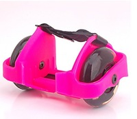 Free shipping PINK flash roller with PU light wheels,High Quality wholesale flash skate with CE, SGS approval