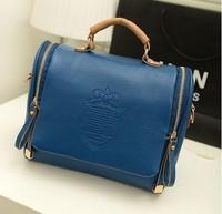 2014 spring and summer candy color women's handbag bag one shoulder cross-body handbag,free shipping