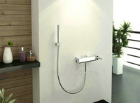 bathroom basin wall mounted valve with shower spray shower faucet set JN537