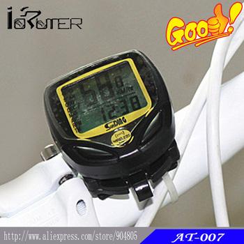 Wireless Bike Bicycle Computer LCD Odometer Speedometer Waterproof Black