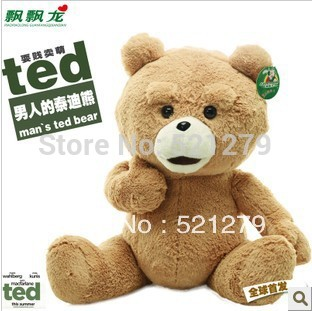 Free Shipping wholesale 60cm stuffed bear giant stuffed teddy teddi bear plush toy toys fot the girl children Man's ted movie(China (Mainland))