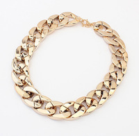 All-match thick Choker Chunky Shiny chain necklace Wholesale SALE