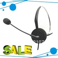 Professional call center headset direct with RJ09 plug , telephone earphone FREEshipping