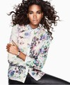 Free shipping   In Europe and the wind in the spring of the new, fashion chiffon printing long sleeve blouse