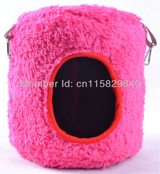 Pink Hammocks Bed Tree House Attach Cage for Parrot Bird Rat Hamster Ferrets Mouse Squirrel Toy 15cmx15cm