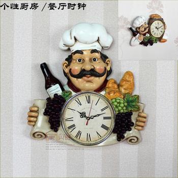 2014 top fasion geometric quartz  personality kitchen  tableware  wall clock