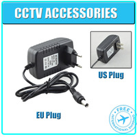 DC 12V 2A Power Supply Adaptor 12V Security professional Converter US / EU Adapter CCTV adpater for cctv camera , free shipping
