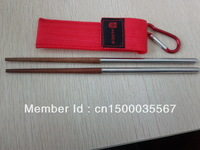 Free shipping!Outdoor portable folding chopsticks.