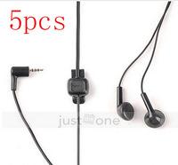 5pcs 2.5mm audio Stereo Earphones Headphones micorphone Handsfree Headset for Nokia  free shipping