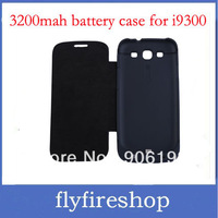 HOT 3200mAh 10pcs External Backup Battery Leather Case Power bank for Samsung Galaxy S3 III i9300 Free Shipping