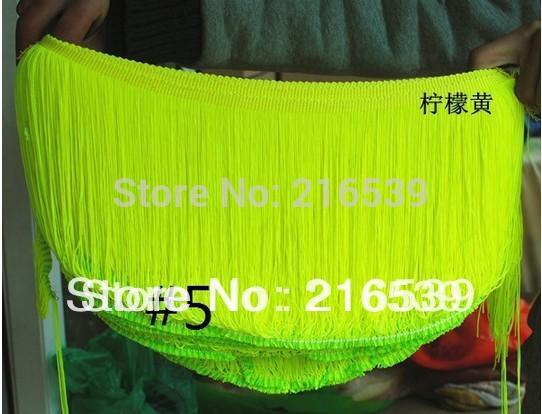 2015 new Pink fringe trim tutu latin tassel lace Nylon trimming lace lemone yellow 18-20cm(China (Mainland))