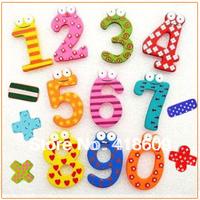 60 pcs/lot ( 4 sets, 15 pcs per set ) Arabic numerals Creative Wooden Fridge magnet,Refrigerator magnet, whiteboard magnet