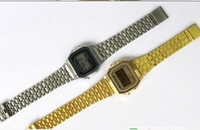 A159w-n1 metal table gold silver , lantern f-91w ultra-thin electronic watches 159 watch