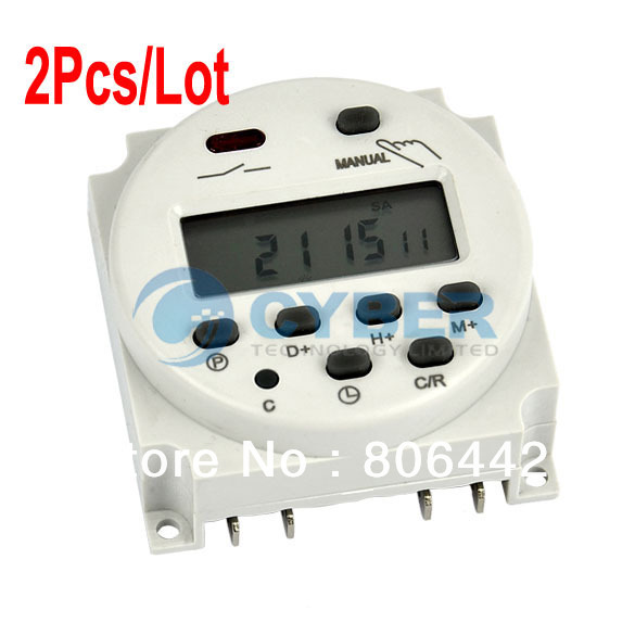 Cheap 2Pcs/Lot 12V Digital LCD Power Weekly Programmable Timer Time Switch Relay 6A(8)A, 250AC Free Shipping TK0403(China (Mainland))