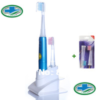 50PCS/lot Lit-Pack Sonic oral hygiene Toothbrush Ultrasonic Toothbrush  Electric Toothbrush 30,000 Strokes  With 4 Brush Head