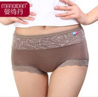 free shipping Ms. collagen fabric briefs Modal lace underwear factory wholesale