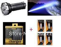 Free Shipping Fenix TK75 Torch  XM-L2 U2 LED Flashlight 2900 Lm+1 Pcs Nitecore i4 charger +4 pcs Fenix 18650 2600 mAh batteries