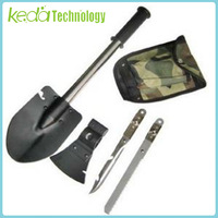 High strength 4 in 1 Versatile Folding Shovel for Camping Hiking Needs (Shovel Axe Saw knife)