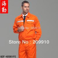 Free Shipping ! Reflective Safety Autumn Long-sleeve work wear set /unisex