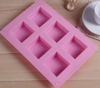 5 Pieces Big Square Soap Mould 6 Holes Slicone Mould DIY Handmade Soap Moulds  (50g soap / hole)