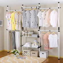 New Fashion Simple Design wardrobe steelframe wardrobe combination clothes storage cabinet Large hanger furniture Strong Quality(China (Mainland))