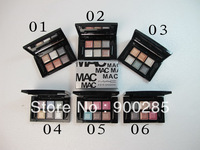 6 Colours Free shipping  Warm Color Makeup Palette Eye shadow 2233