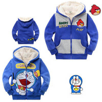 In stcoked Best Quality Pretty Price New Arrivals Free Shipping Boy's winter Parkas 100% cotton Cartoon Doraemon Mickey mouse