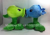 Brand New Plants vs. Zombies 2 pcs a set Plush Toy Peashooter, ice peashooter  Figures