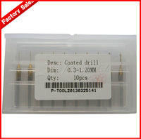 High quality 10pcs New 0.30-1.20mm Coated drill / Precision drill / Mini Drill / Drill Bit Set / Free Shipping
