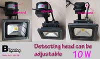 Free shipping Spotlight with motion senser 10w ac100-240v spotlight pir led Infrared sensor motion detector ip65