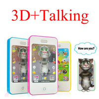 Free Shipping New Function 3D Effect Baby iPhone Learning Toy Talking Toy Chinese English Educational Study Toy Learning Machine