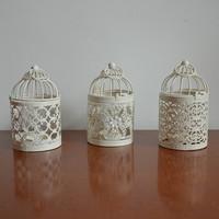 white birdcage candle holders, 3pieces/lot, wedding decoration, free shipping,  iron candlestick,lantern