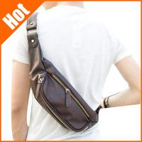 men Messenger Bag 2013 top class pu leather  casual sport messenger bag 26*10*12cm black coffee color
