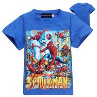 Children's clothing summer child t-shirt male child short-sleeve 100% cotton COOL Spiderman t-shirt big boy short-sleeve T-shirt