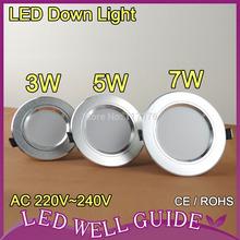 downlights led 5w 2014 nuevo 5730 smd ac220v 240v blanco caliente blanco frío envío gratis(China (Mainland))