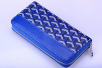 Genuine leather + Canvas Wallet Long size Unisex wallet 19cm x 10cm x 2.5cm Free shipping Dust bag & carton box packing (SP0456)