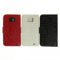 Luxury Crocodile Leather Skin Cover Credit Card Holder Case For Samsung Galaxy S2 S II i9100 Accessories