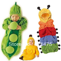 Baby sleeping bag newborn ploughboys caterpillar pea sleeping bag baby anti tipi spring and summer autumn and winter cartoon