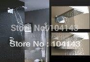 "22"" Big Shower Head Bathroom Rainfall Shower Complete Faucet Shower set  LJ-50038F"