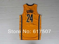 #24 Paul George Basketball Jersey New Material Rev 30 Cheap Sport Jersey Stitched Logo Embroidery Authentic Jersey