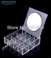 Free shipping Dresser storage box jewelry box plus size mirror bathroom mirror belt shelf