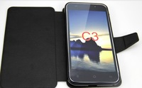original ZOPO C3 Leather Case, black cover Leather pouch for ZOPO flip case free shipping