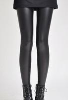 Women Hot Sexy Black Wet Look Faux Leather Leggings Slim Shiny Pants   9006