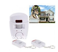 New Arrival Durable Wireless Infrared PIR Sensor Alarm 105 dB Siren 2 PCS Remote Control - White
