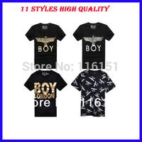 2014 Lovers street fashion eagle pattern printing short sleeve t-shirt  BOY LONDON cotton t shirts tops S-3XL F-049