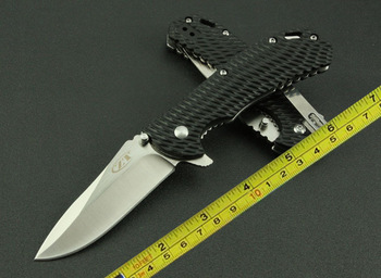New ZT G10 Handle 5Cr13Mov Steel Pocket Folding Knife FD10