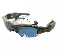 Camo Color,MP3,Hight quality Sunglasses camera DVR with retail box,before shipping 100% test