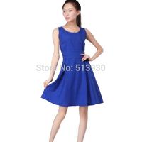 Free shippment linen summer dress sleeveless elegant slim summer skirtm 7 colors for your chooice