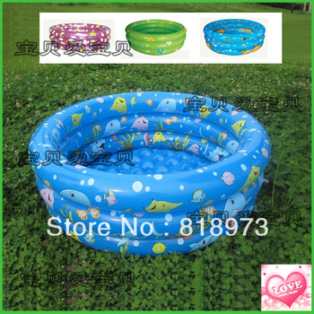 Selling children's inflatable swimming pool play 150 cm three-ring round the pool